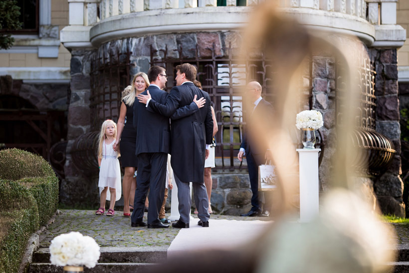 outdoor wedding in palace