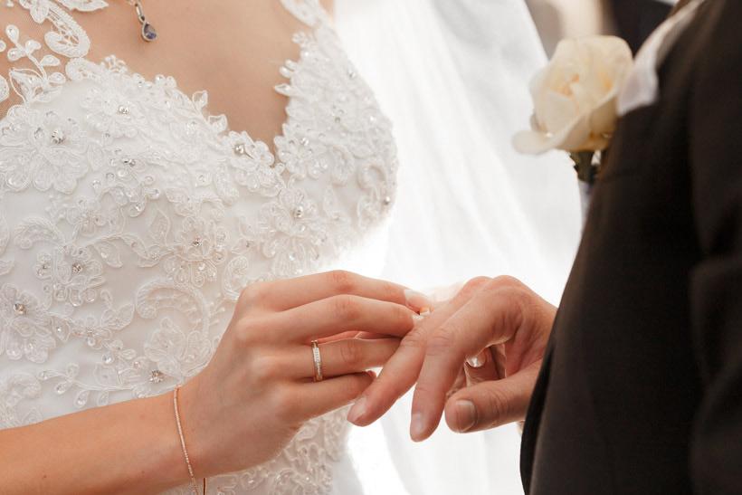 outdoor wedding rings
