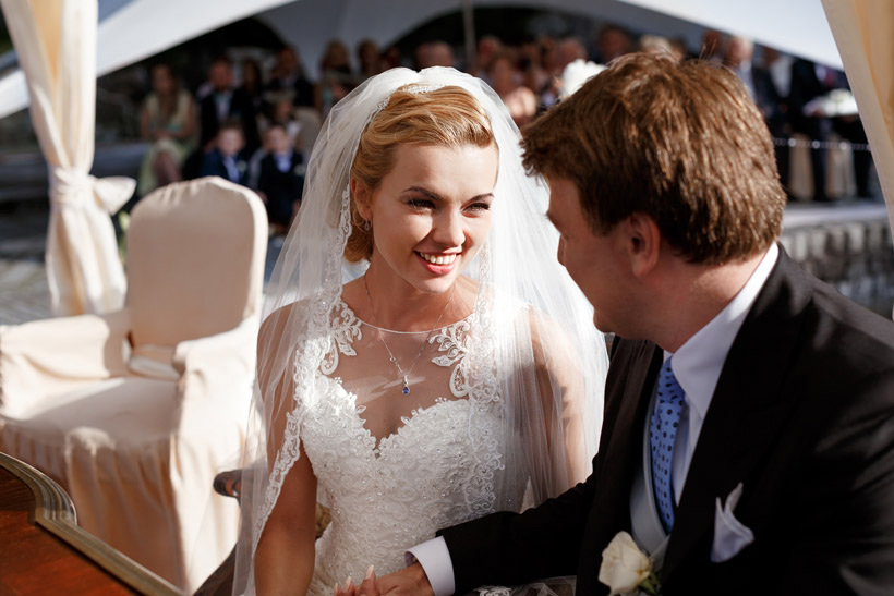 bride smiles happy wedding photography