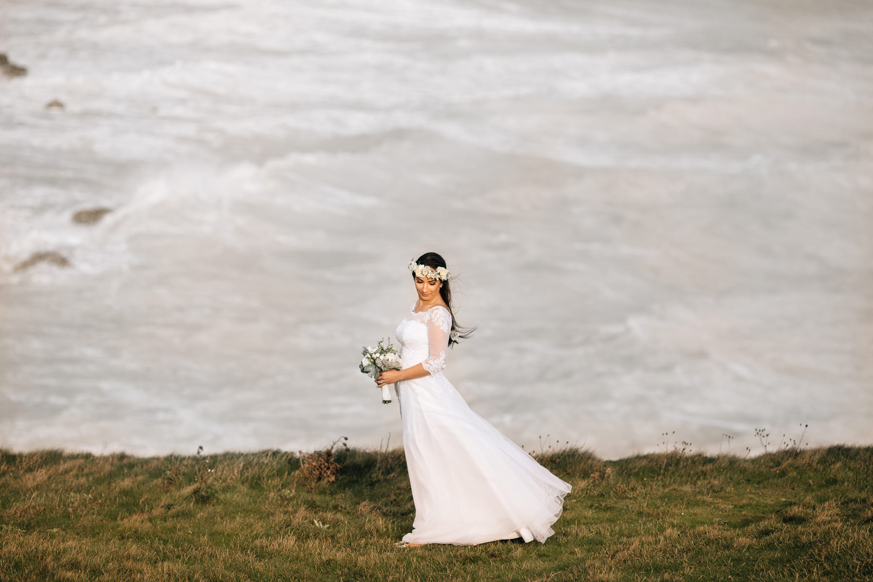 uk wedding at cliffs