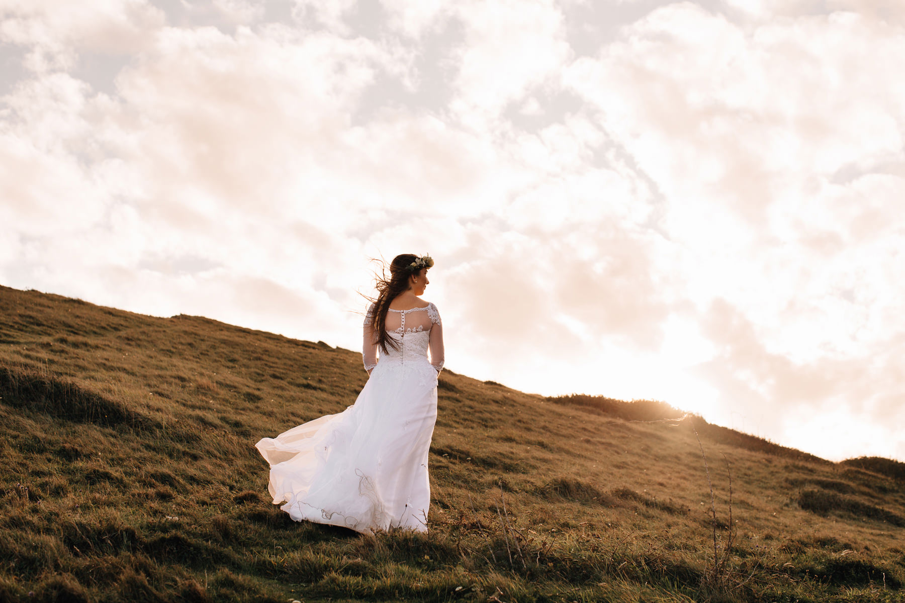 boho bride east sussex seven sisters