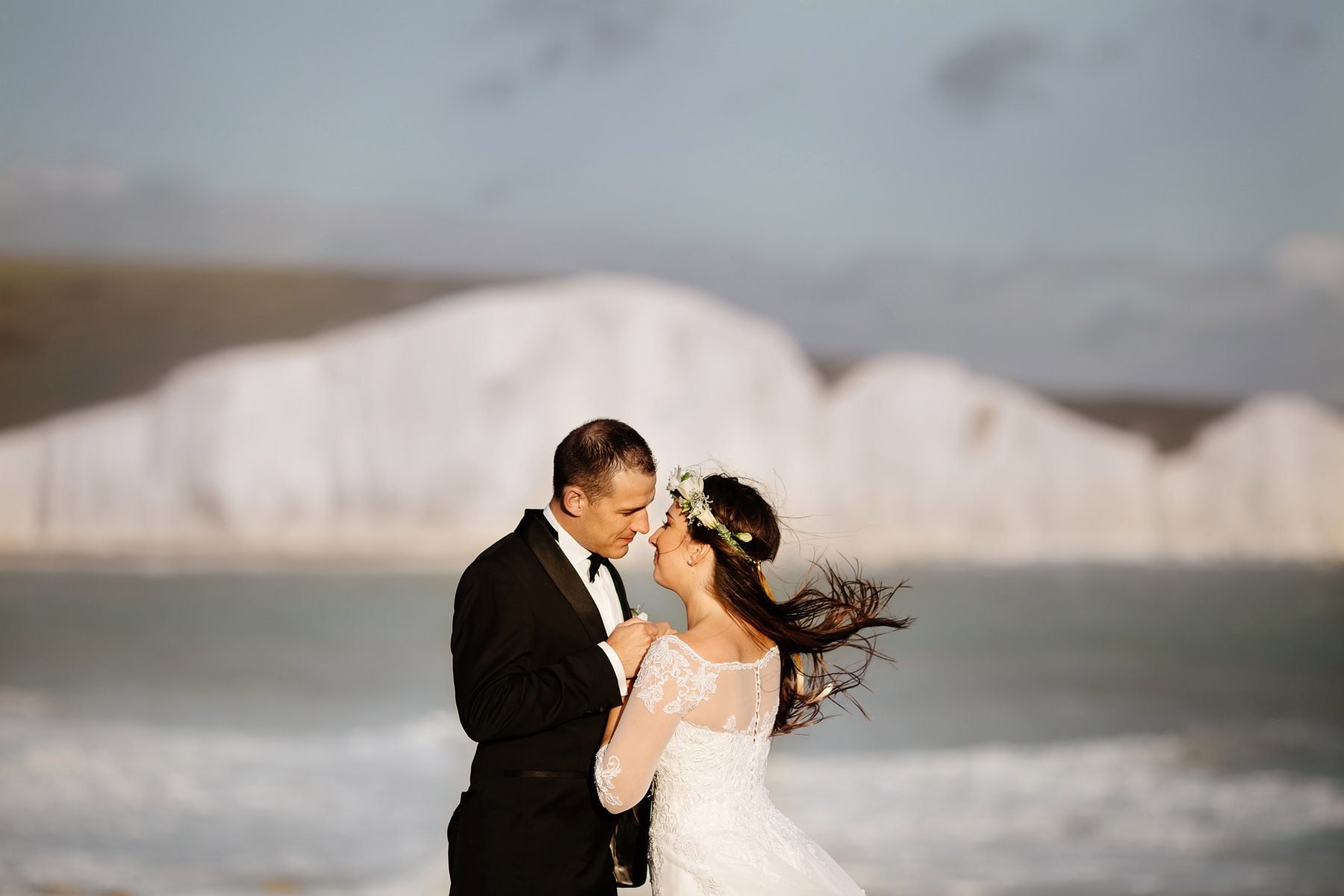 wedding at seven sisters cliffs