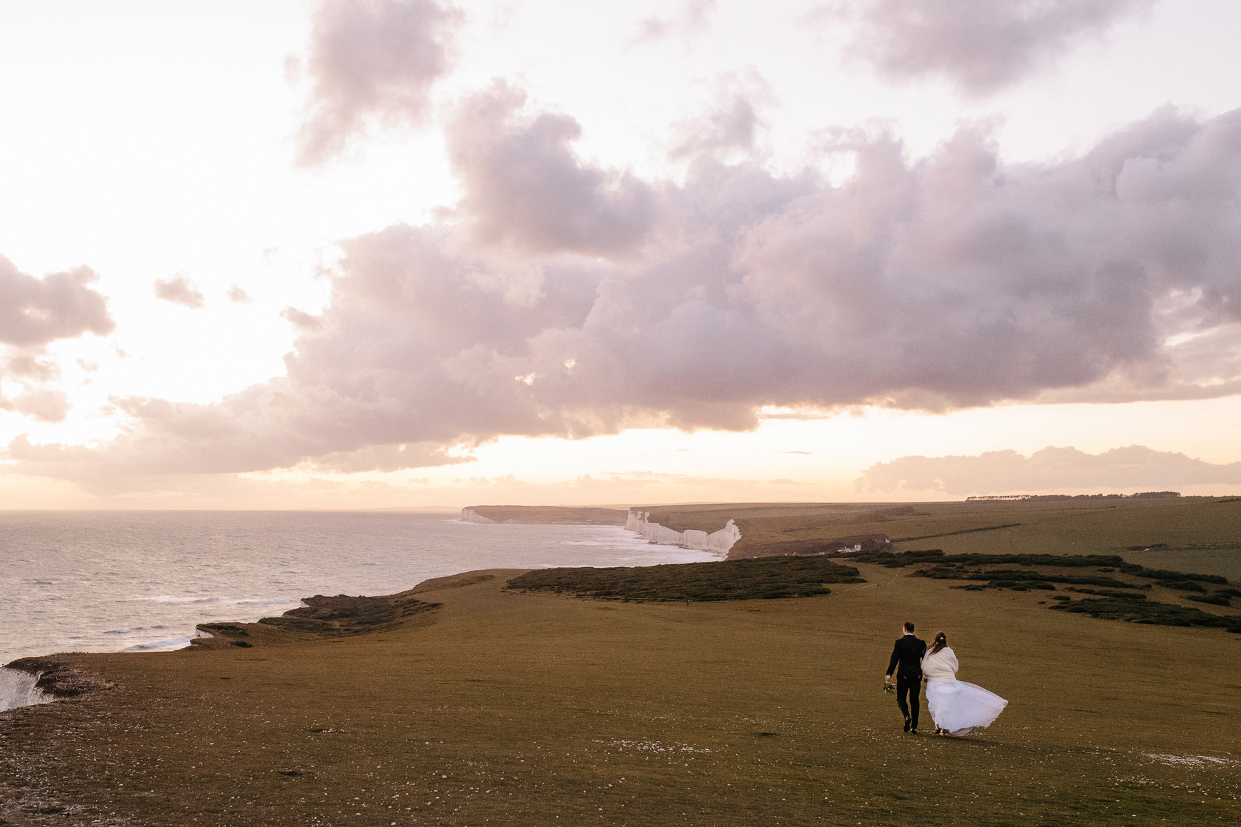 kate and tommy, wedding photography beachy head