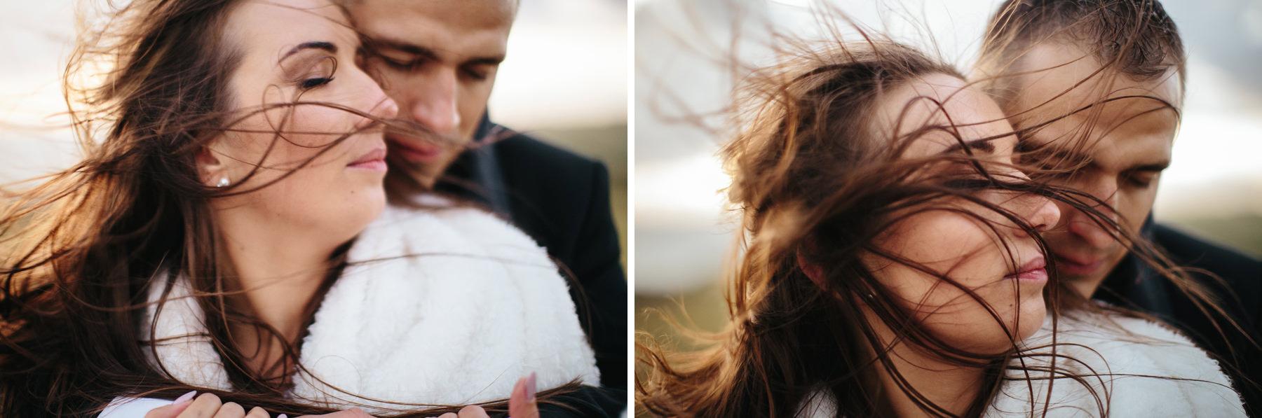 windy wedding photoshoot