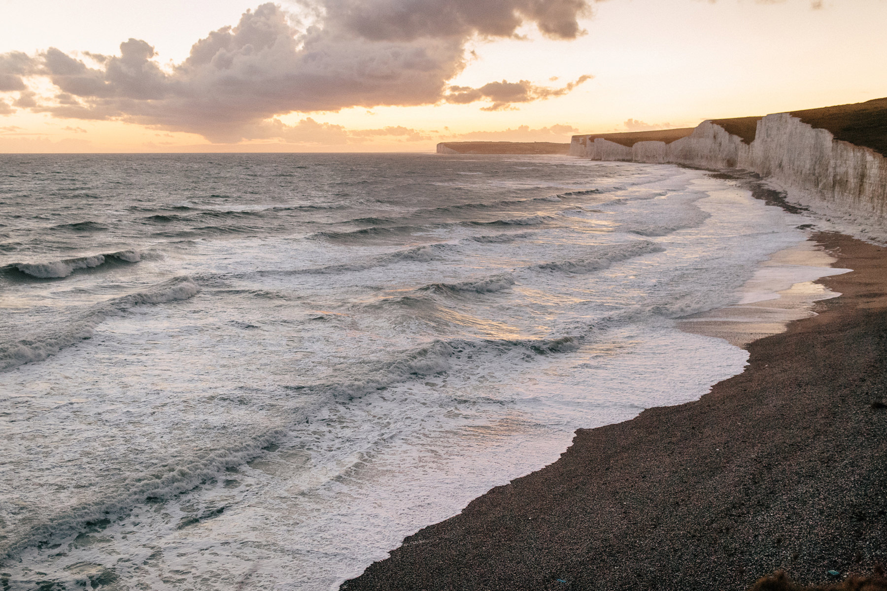 seven sisters sunset uk landscape