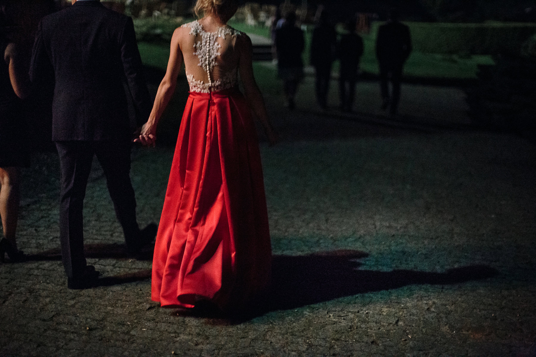 red wedding dress idea